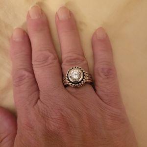 Sterling silver cz ring